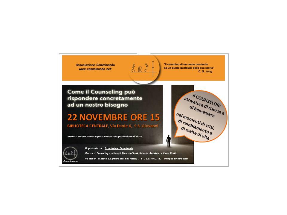 cartolina 22 novembre Biblioteca
