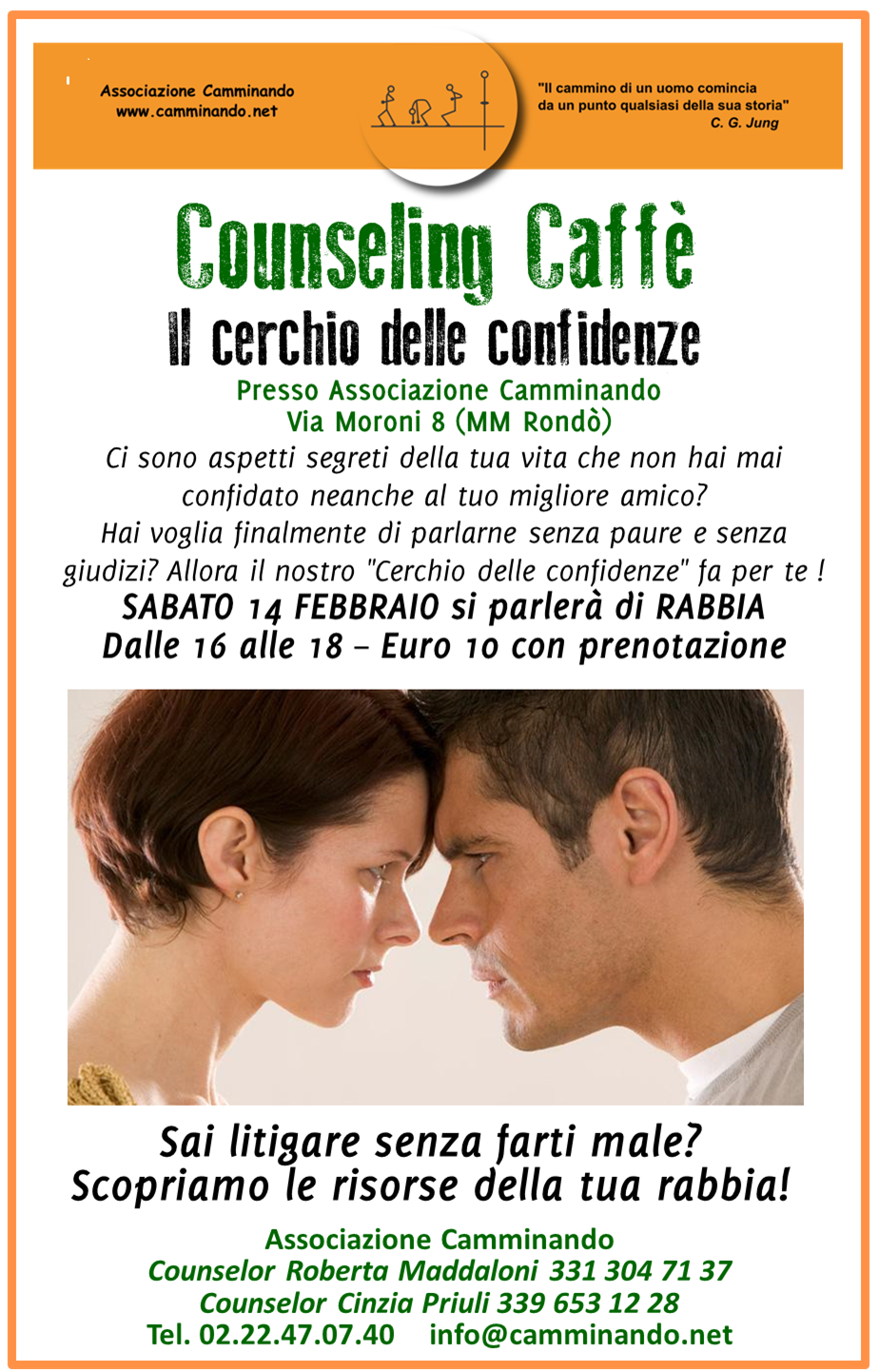 counseling caffe rabbia 14 febbraio