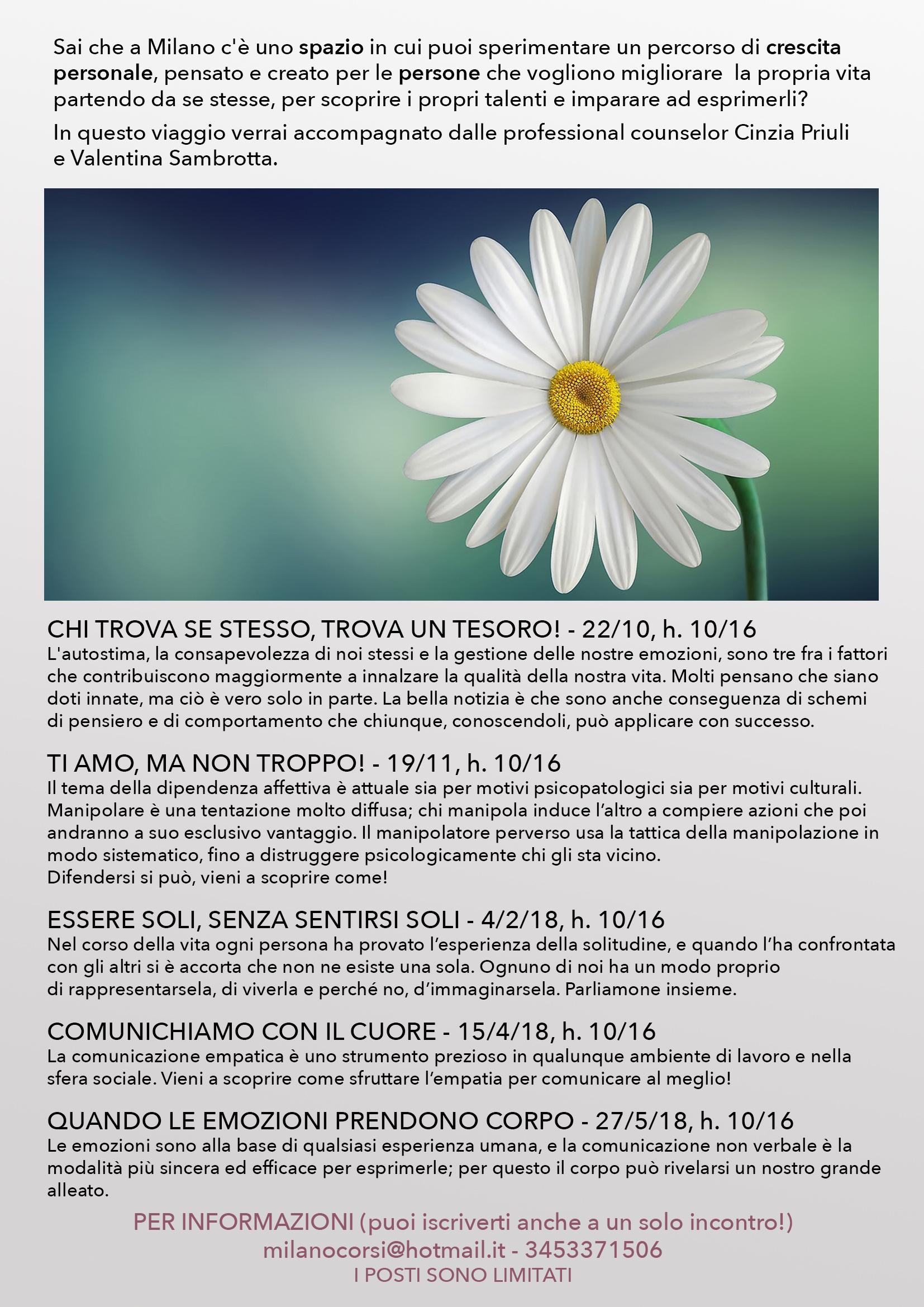 LOCANDINA UNICA Counseling Milano
