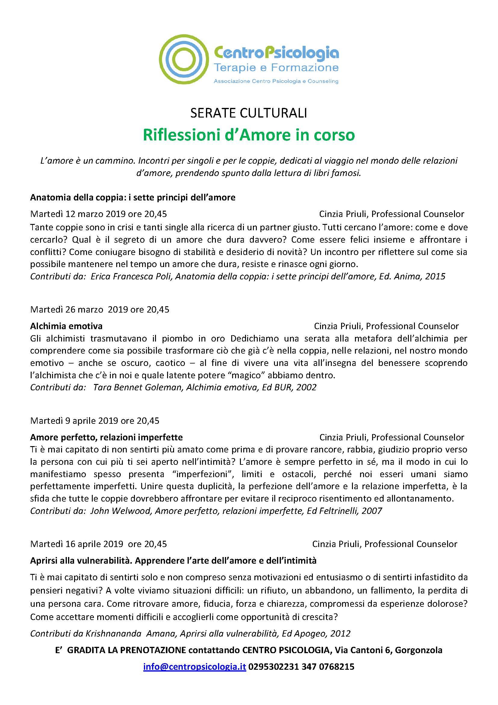 2019 Ciclo Conferenze riflessioni amore in corso CORRETTO